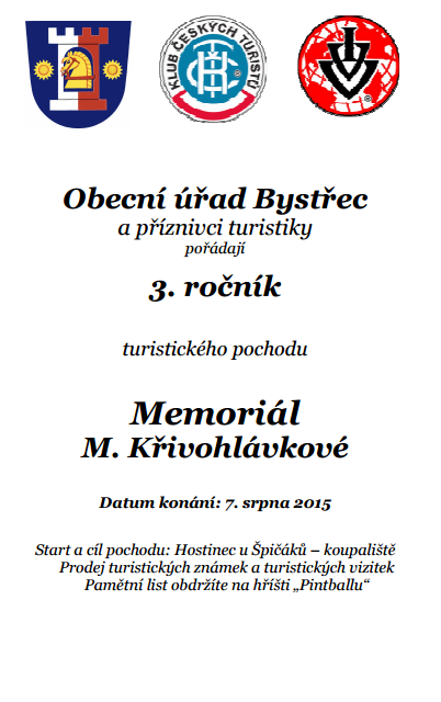 Memoriál M. Křivohlávkové - Bystřec