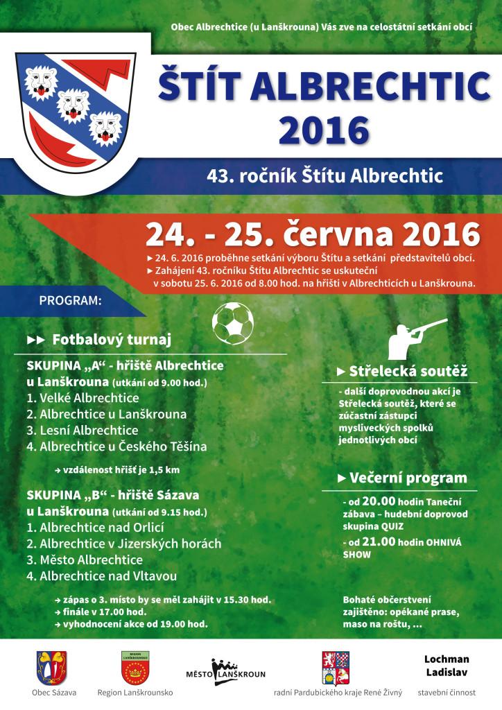 Plakát na Štít Albrechtice 2016